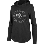 '47 Women's Oakland Raiders Club Black Hooded Long Sleeve Shirt