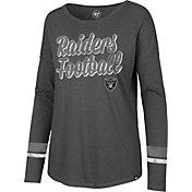 '47 Women's Oakland Raiders Courtside Grey Long Sleeve Shirt
