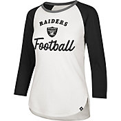 '47 Women's Oakland Raiders Splitter White Raglan Shirt