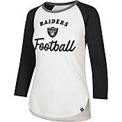 '47 Women's Oakland Raiders Splitter White Raglan Shirt