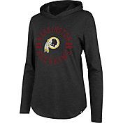 '47 Women's Washington Redskins Club Black Hooded Long Sleeve Shirt