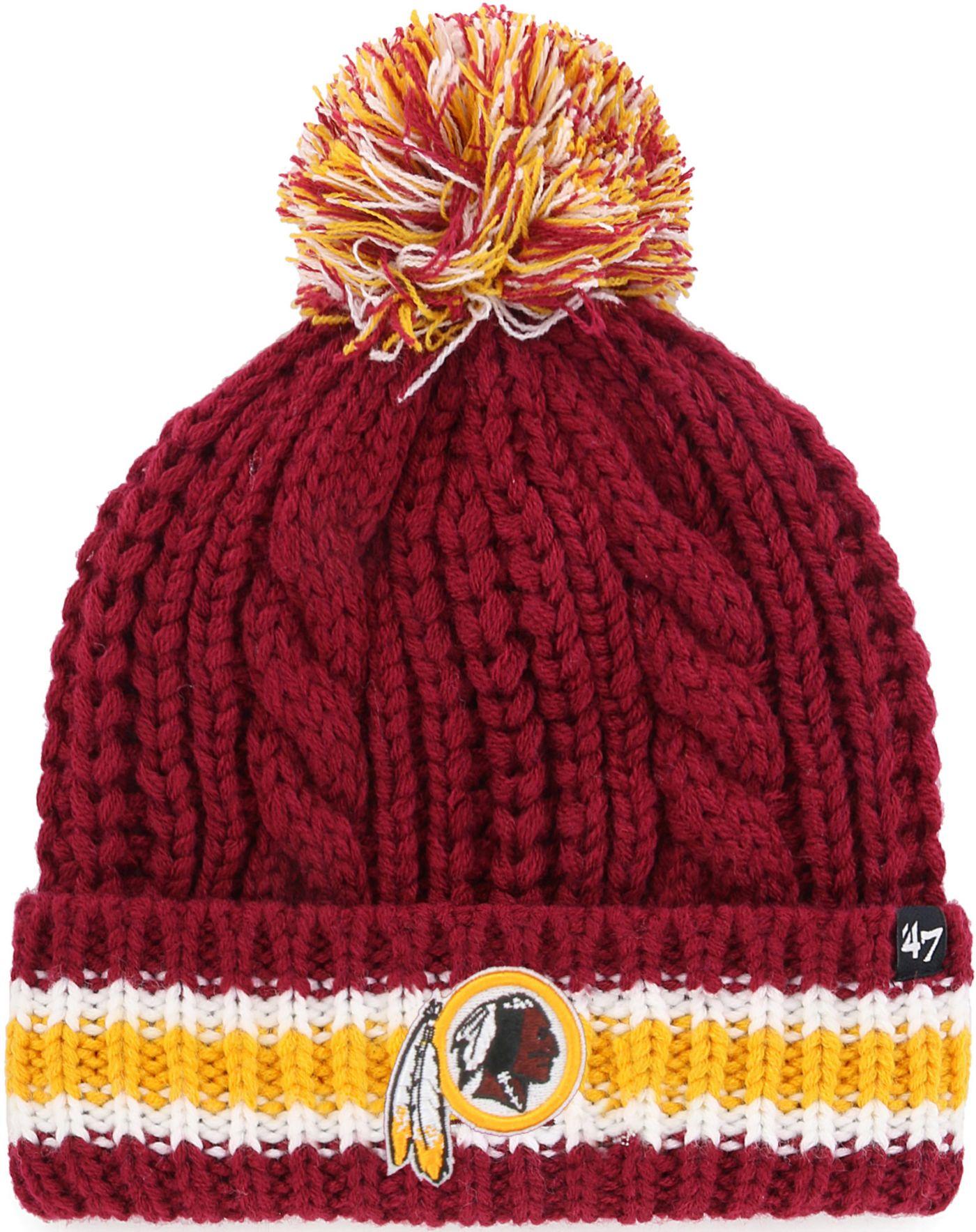 '47 Women's Washington Redskins Sorority Red Cuffed Pom Knit