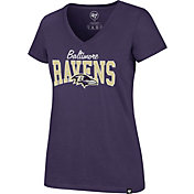 '47 Women's Baltimore Ravens Rival Purple V-Neck T-Shirt