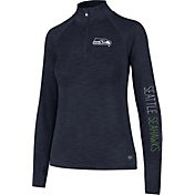 '47 Women's Seattle Seahawks Shade Navy Quarter-Zip Pullover
