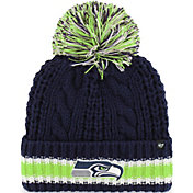 '47 Women's Seattle Seahawks Sorority Navy Cuffed Pom Knit
