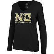 '47 Women's New Orleans Saints Big Easy Football Black Long Sleeve Shirt