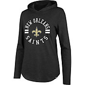 '47 Women's New Orleans Saints Club Black Hooded Long Sleeve Shirt