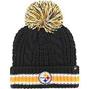 '47 Women's Pittsburgh Steelers Sorority Black Cuffed Pom Knit Hat