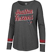 '47 Women's Houston Texans Courtside Grey Long Sleeve Shirt