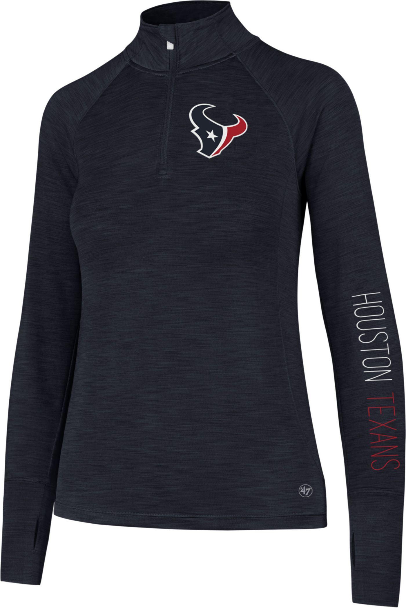 '47 Women's Houston Texans Shade Navy Quarter-Zip Pullover
