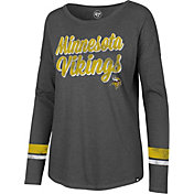 '47 Women's Minnesota Vikings Courtside Grey Long Sleeve Shirt