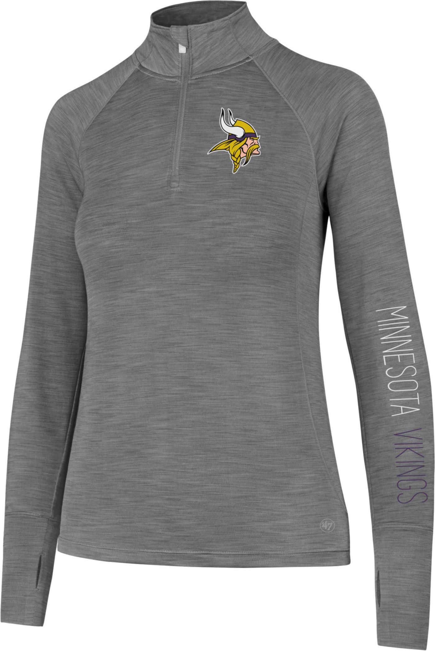 '47 Women's Minnesota Vikings Shade Grey Quarter-Zip Pullover
