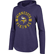 '47 Women's Minnesota Vikings Club Purple Hooded Long Sleeve Shirt