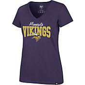 '47 Women's Minnesota Vikings Rival Purple V-Neck T-Shirt