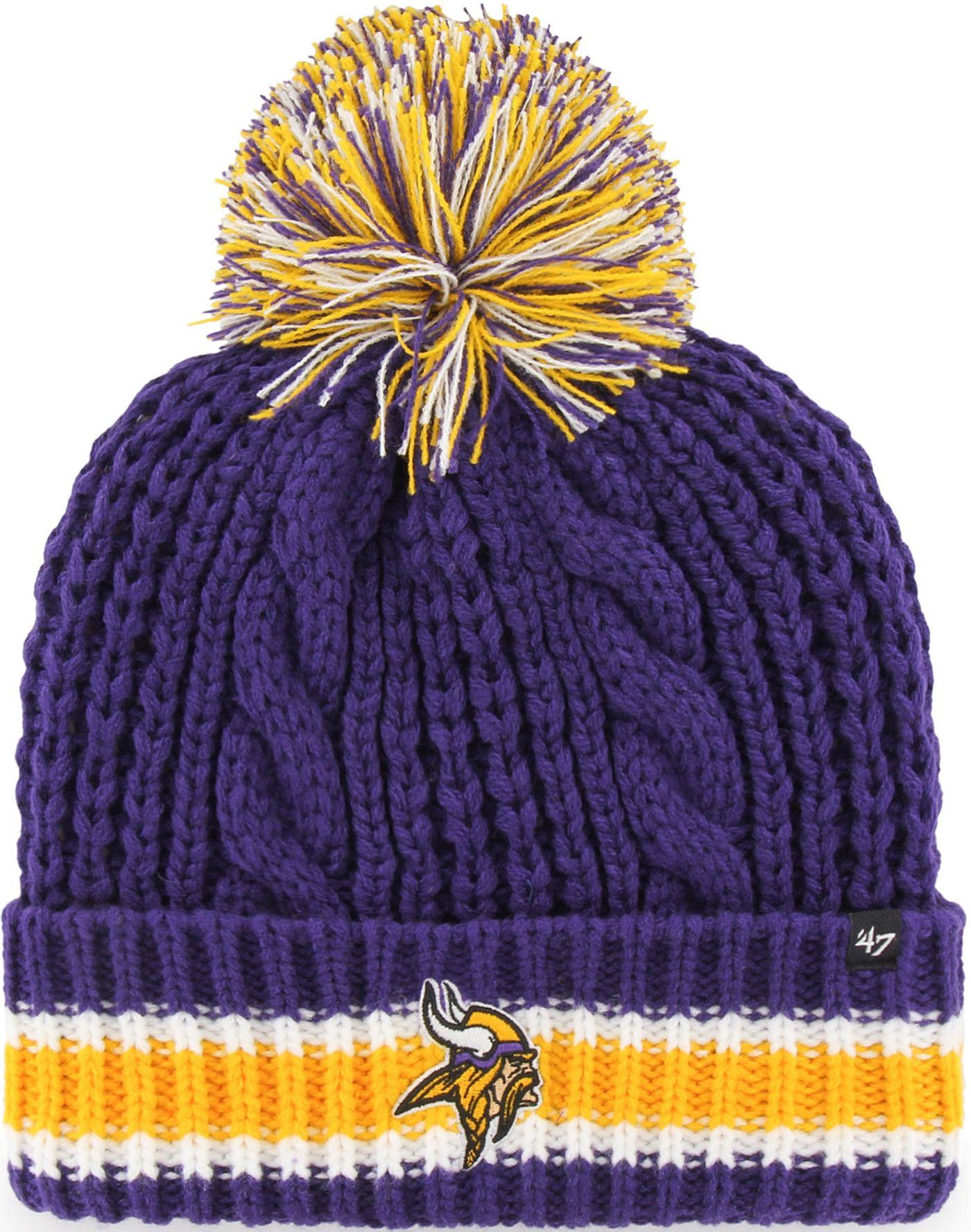 '47 Women's Minesota Vikings Sorority Purple Cuffed Pom Knit