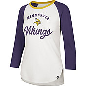 '47 Women's Minnesota Vikings Splitter White Raglan Shirt