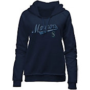 New Era Women's Seattle Mariners Navy Pullover Hoodie