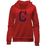 New Era Women's Cleveland Indians Red Pullover Hoodie