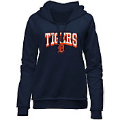 New Era Women's Detroit Tigers Navy Pullover Hoodie