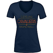 New Era Women's Cleveland Cavaliers Tri-Blend V-Neck T-Shirt