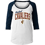 New Era Women's Cleveland Cavaliers Three-Quarter Sleeve Shirt