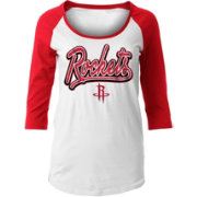 New Era Women's Houston Rockets Three-Quarter Sleeve Shirt