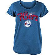 New Era Women's Philadelphia 76ers Royal Scoop Neck T-Shirt