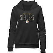 NFL Team Apparel Women's Pittsburgh Steelers Team Line Black Hoodie
