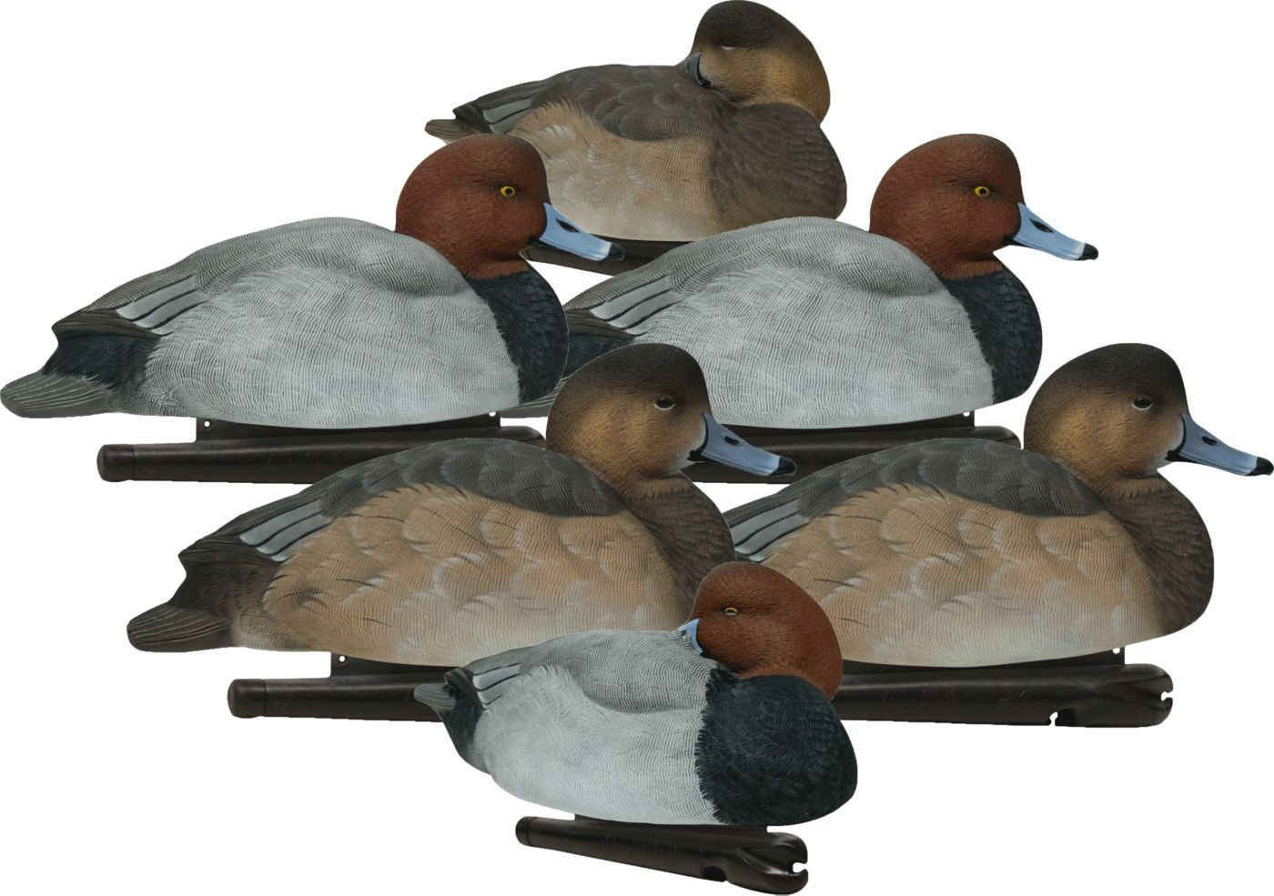 Topflight Red Head Floating 6 Pack Duck Decoys