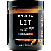 GNC Beyond Raw LIT Pre-Workout Icy Fireworks 30 Servings