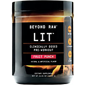 GNC Beyond Raw LIT Pre-Workout Fruit Punch 30 Servings