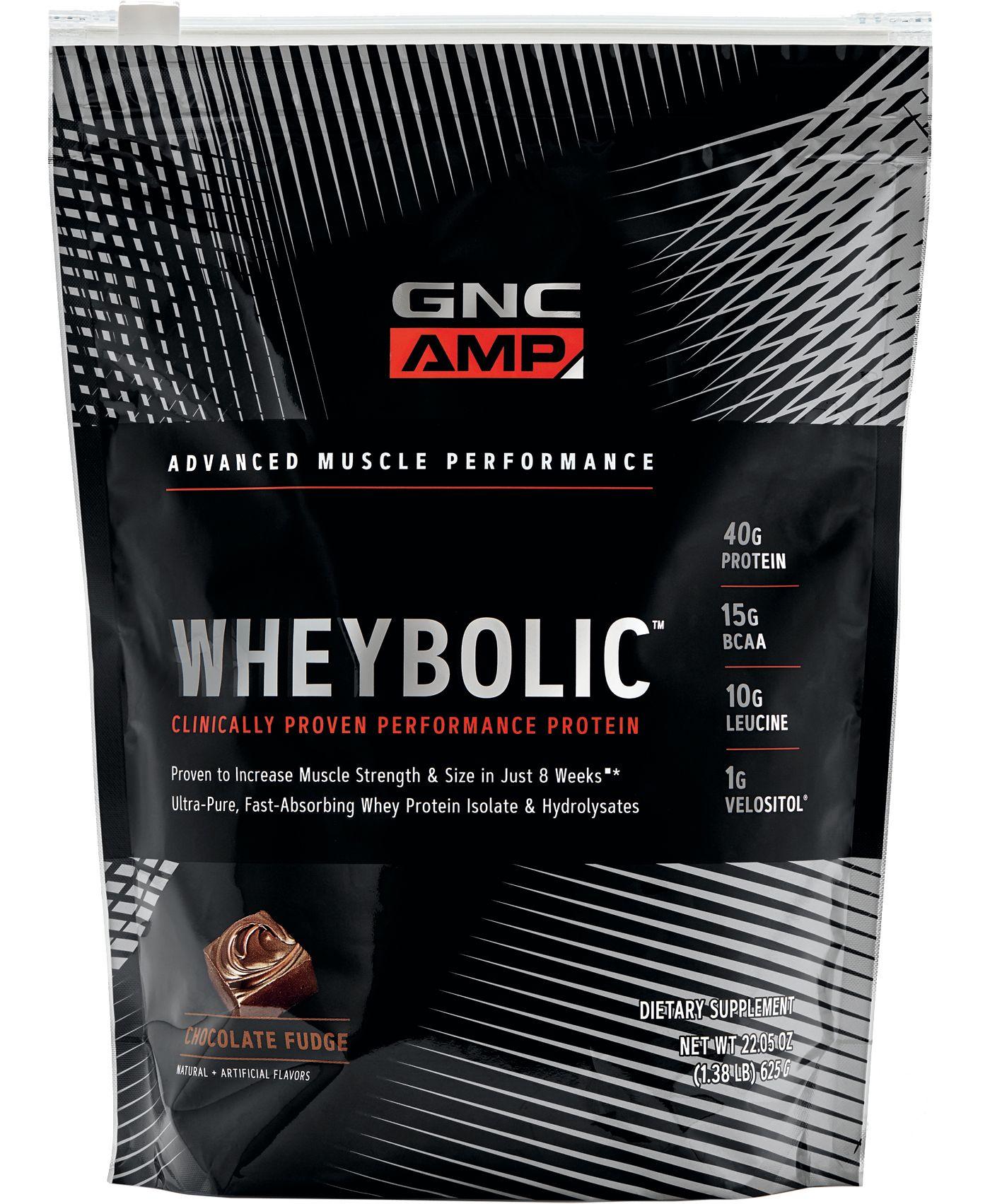 GNC AMP Wheybolic Protein Chocolate Fudge 10 Servings