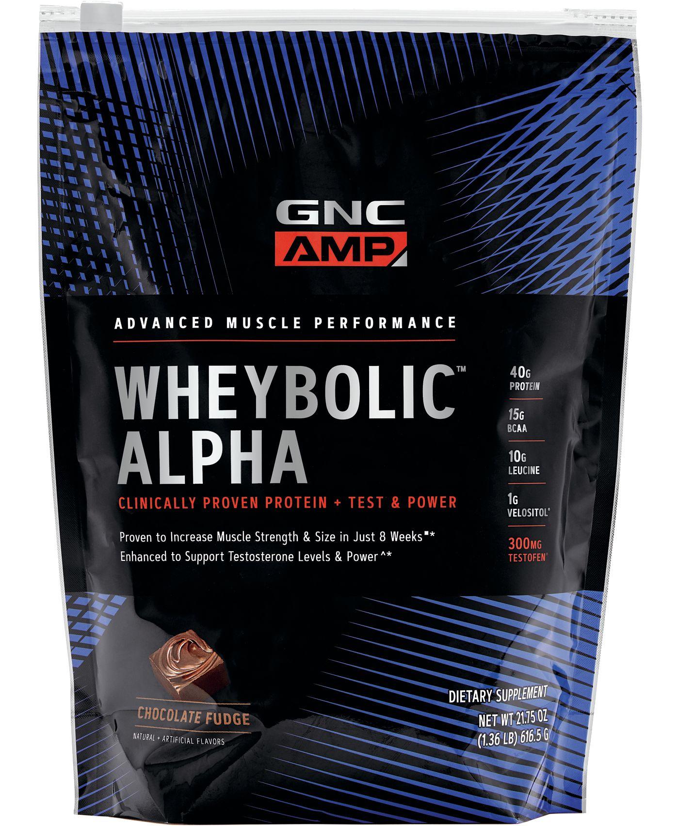 GNC AMP Wheybolic Alpha Protein Chocolate Fudge 9 Servings