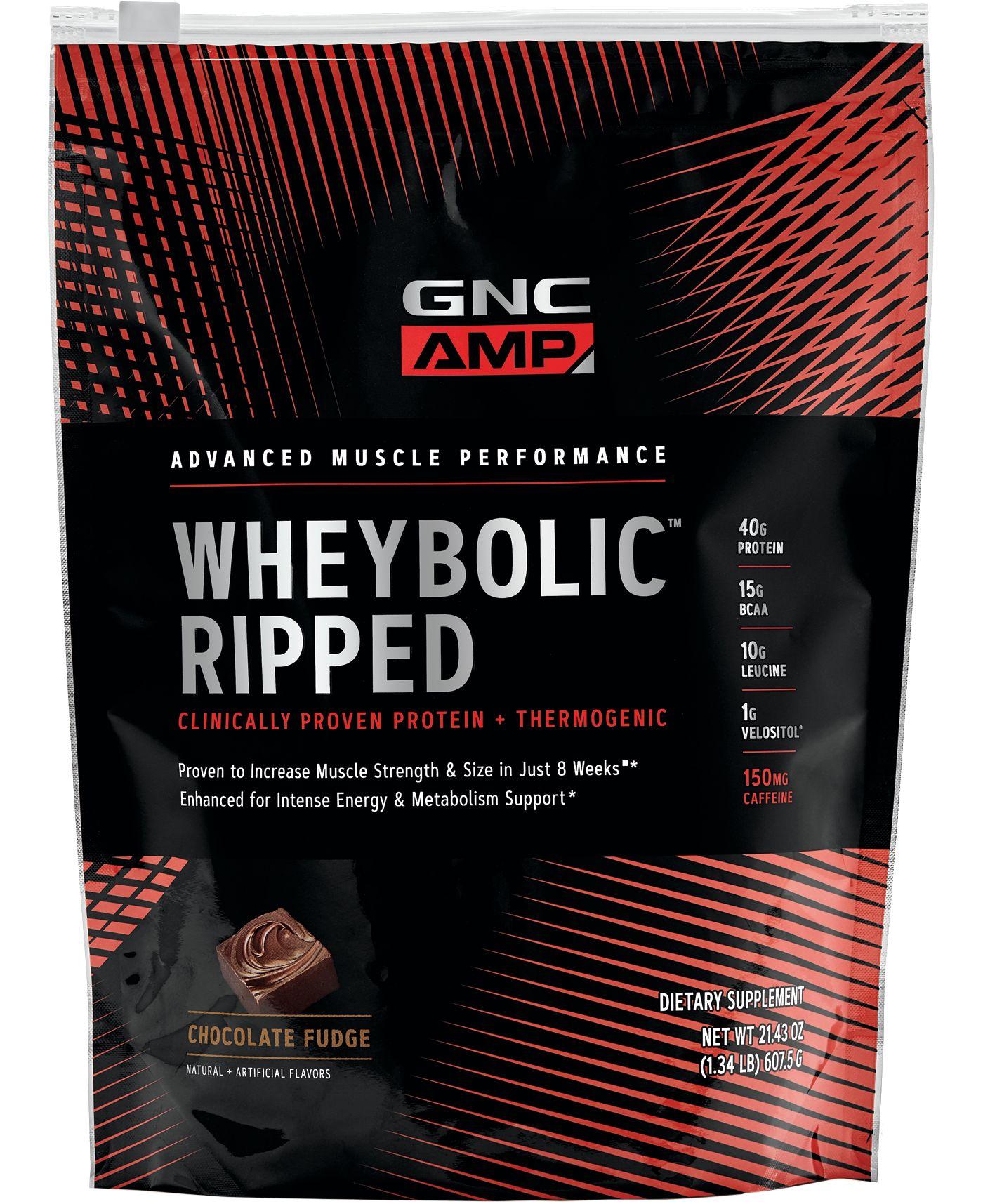 GNC AMP Wheybolic Ripped Protein Chocolate Fudge 9 Servings