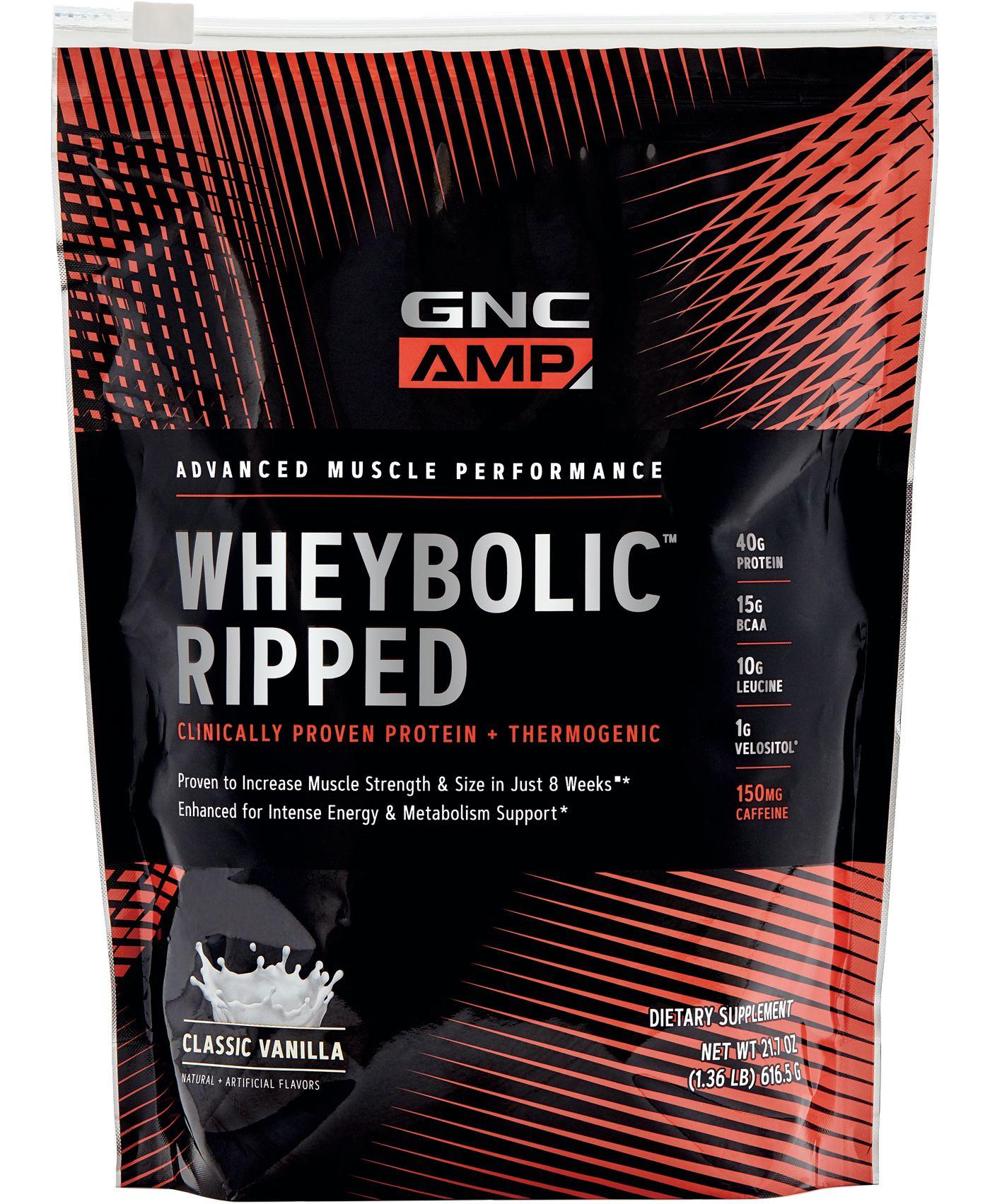 GNC AMP Wheybolic Ripped Protein Classic Vanilla 9 Servings