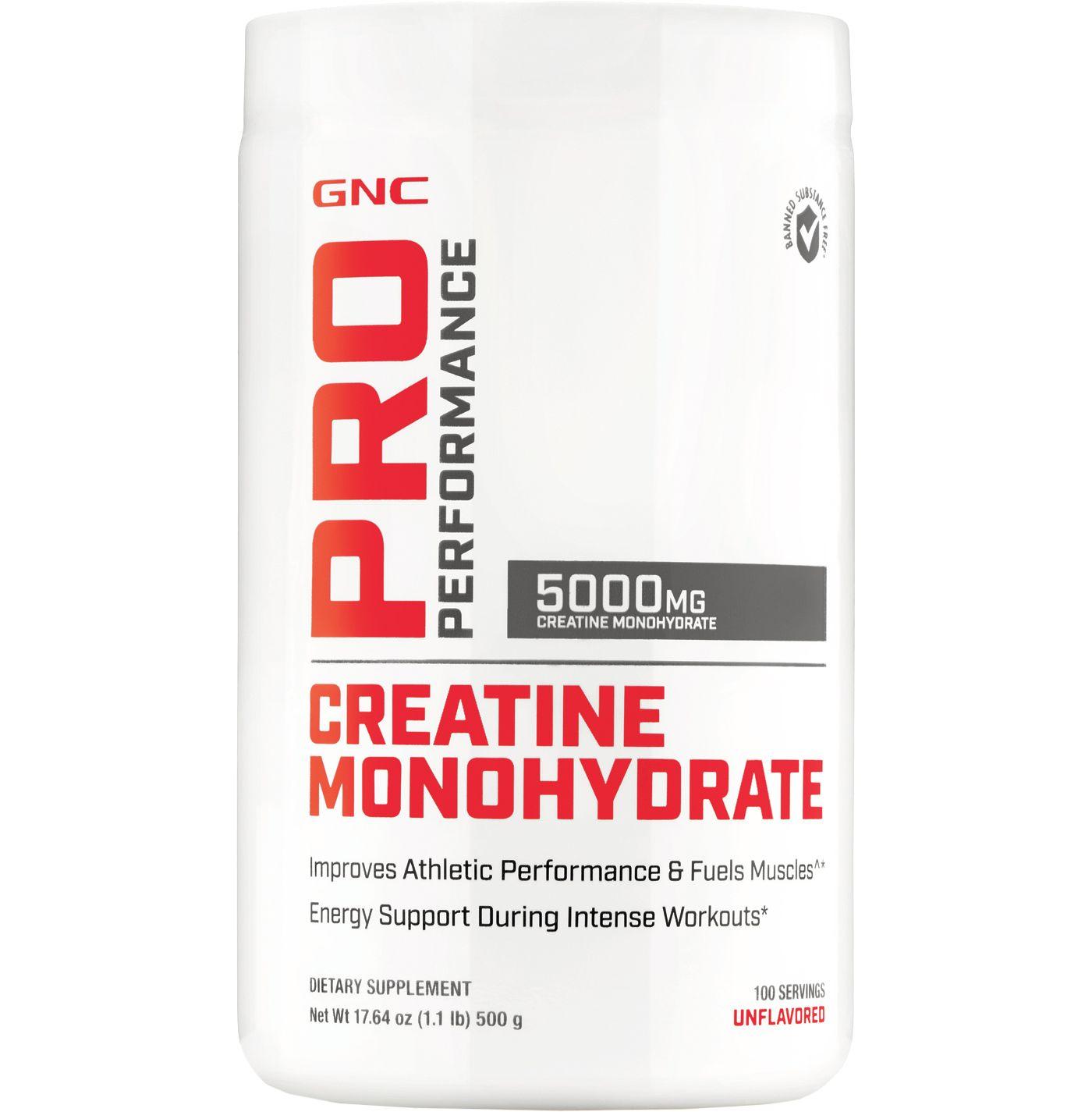 GNC Pro Performance Creatine Monohydrate 100 Servings