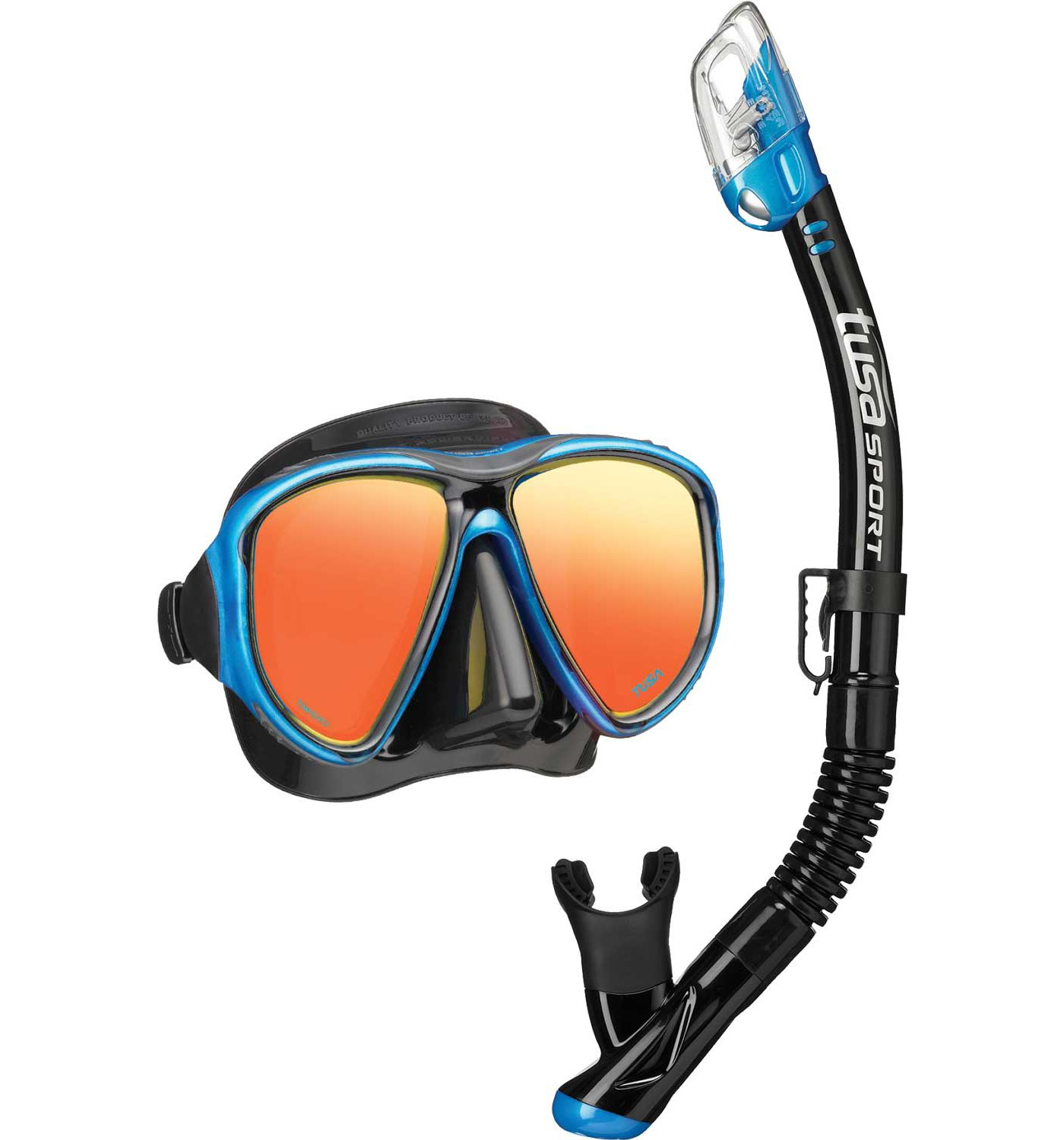 TUSA Sport Adult Powerview Dry Snorkeling Combo Set