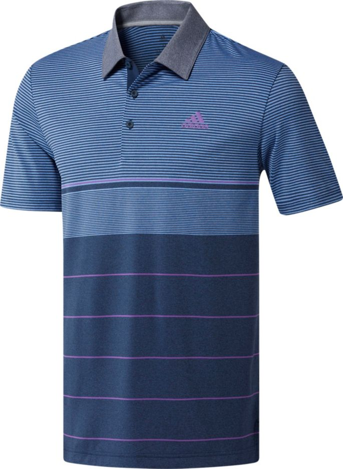 81e7d2741d7 adidas Men's Ultimate365 Heather Gradient Stripe Golf Polo | Golf Galaxy