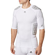 adidas Adult techfit® Half Sleeve Padded Football Shirt