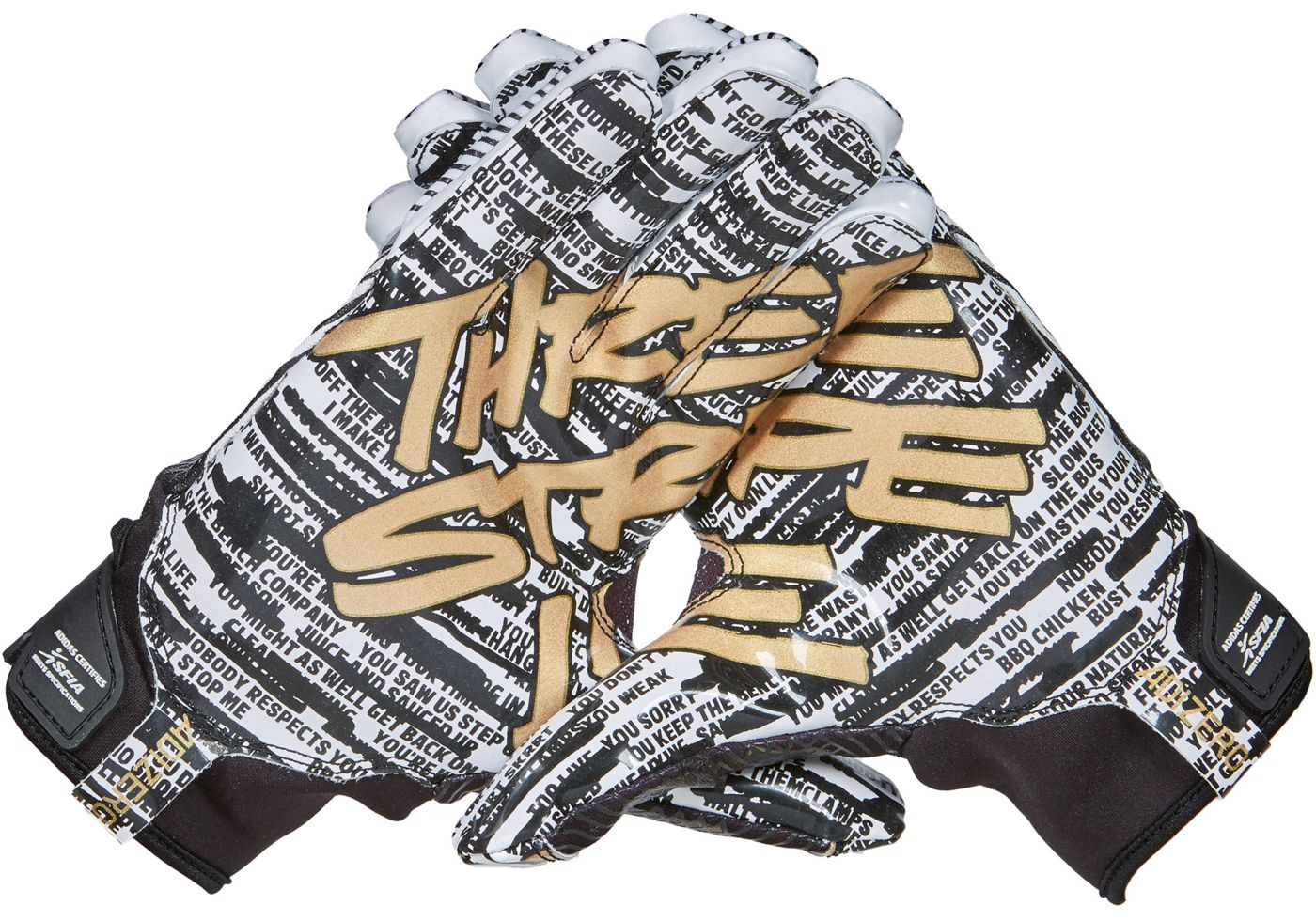 Adidas Adult Adizero 5-Star 8.0 Three Stripe Life Receiver Glove