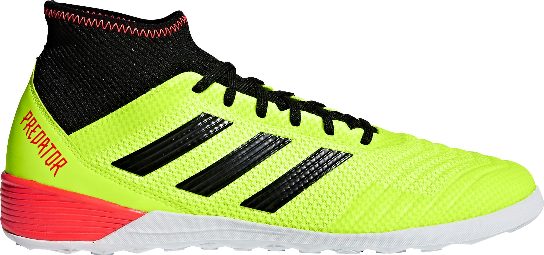 adidas Men's Predator Tango 18.3 Indoor Soccer Shoes, Size: 8.5, Solar Yellow/Black/Solar Red