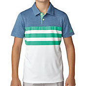adidas Boys' 3-Stripes Fashion Golf Polo