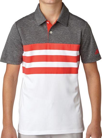adidas Boys' 3-Stripes Fashion Golf Polo