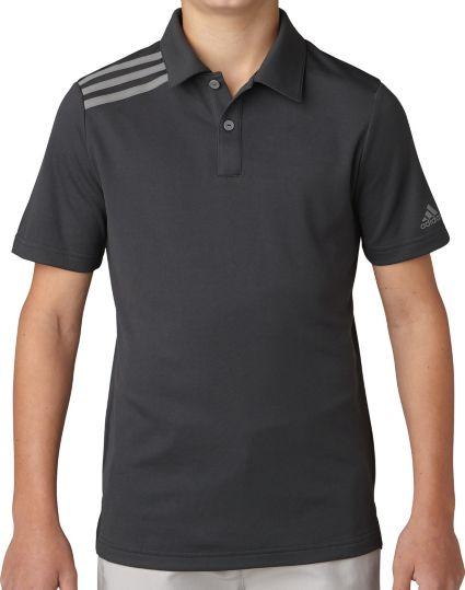 adidas Boys' 3-Stripes Golf Polo