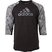 adidas Boys' Triple Stripe Printed ¾ Sleeve Baseball Graphic Shirt