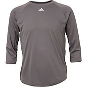 adidas Boys' Triple Stripe ¾ Sleeve Tech Baseball Practice Shirt