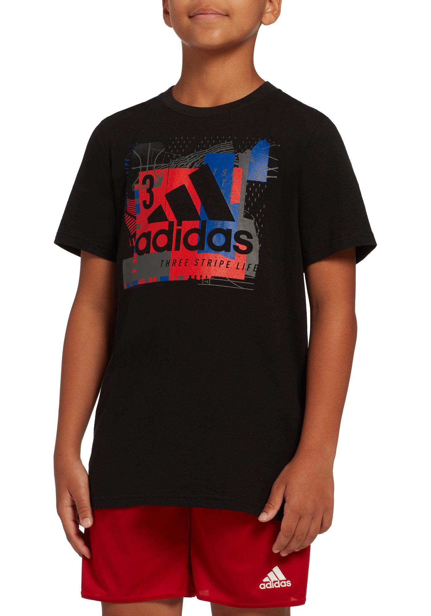 adidas Boys' Collage Mantra Graphic T-Shirt