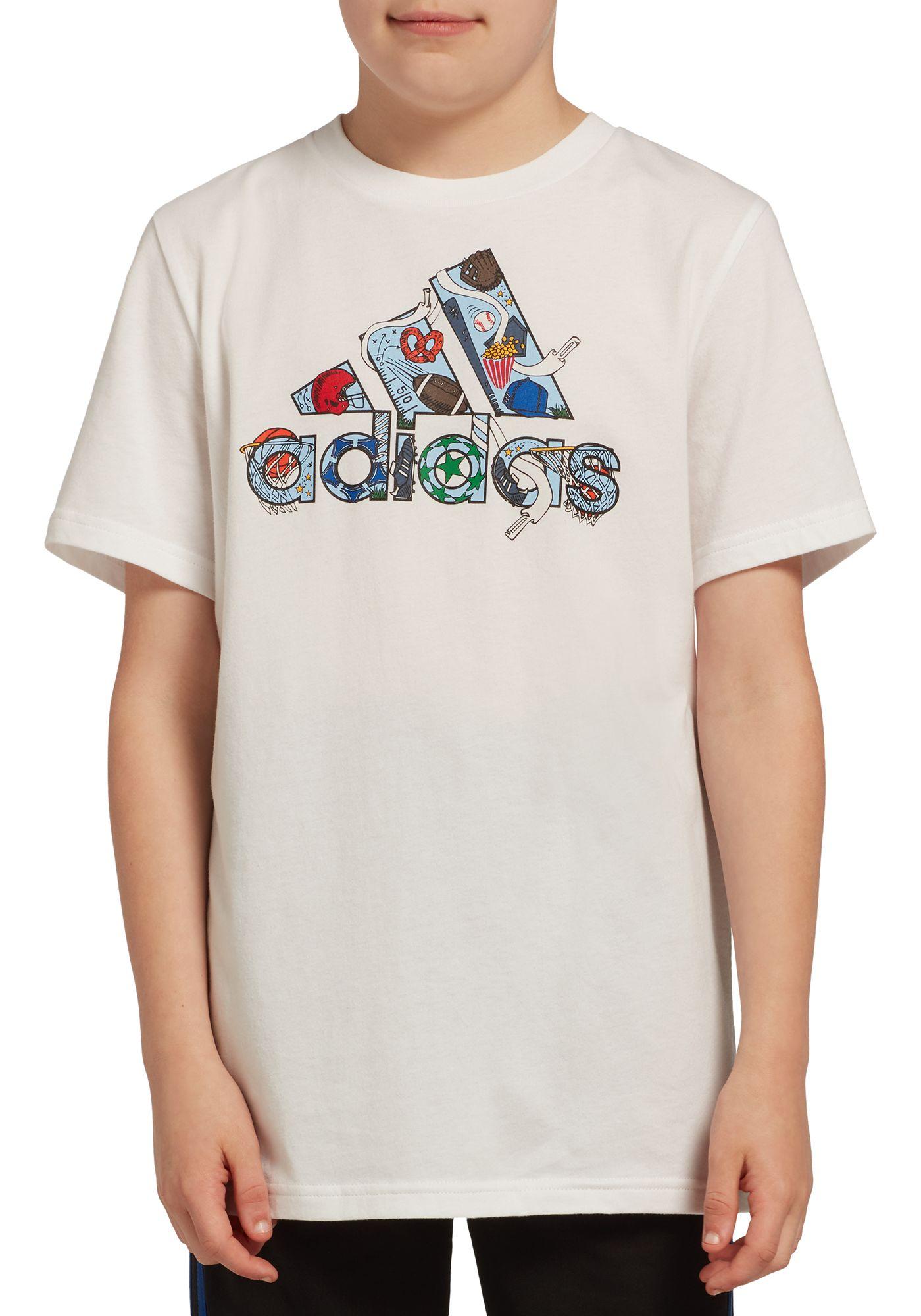 adidas Boys' Icon Badge Of Sports Graphic T-Shirt