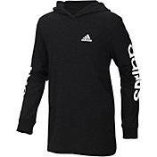 adidas Boys' Branded Sleeve Hoodie