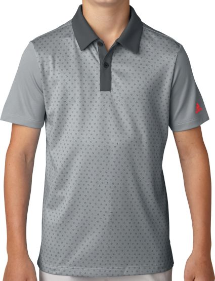 adidas Boys' Micro Dot Print Golf Polo